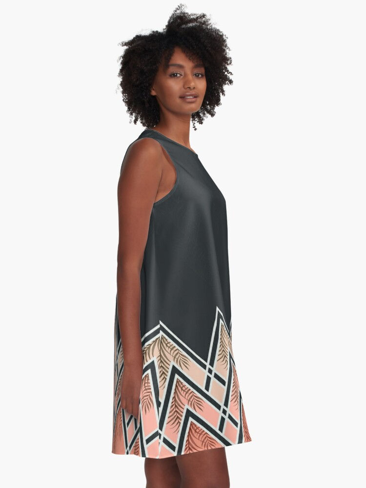 Alternate view of Pink Déco Mountains A-Line Dress