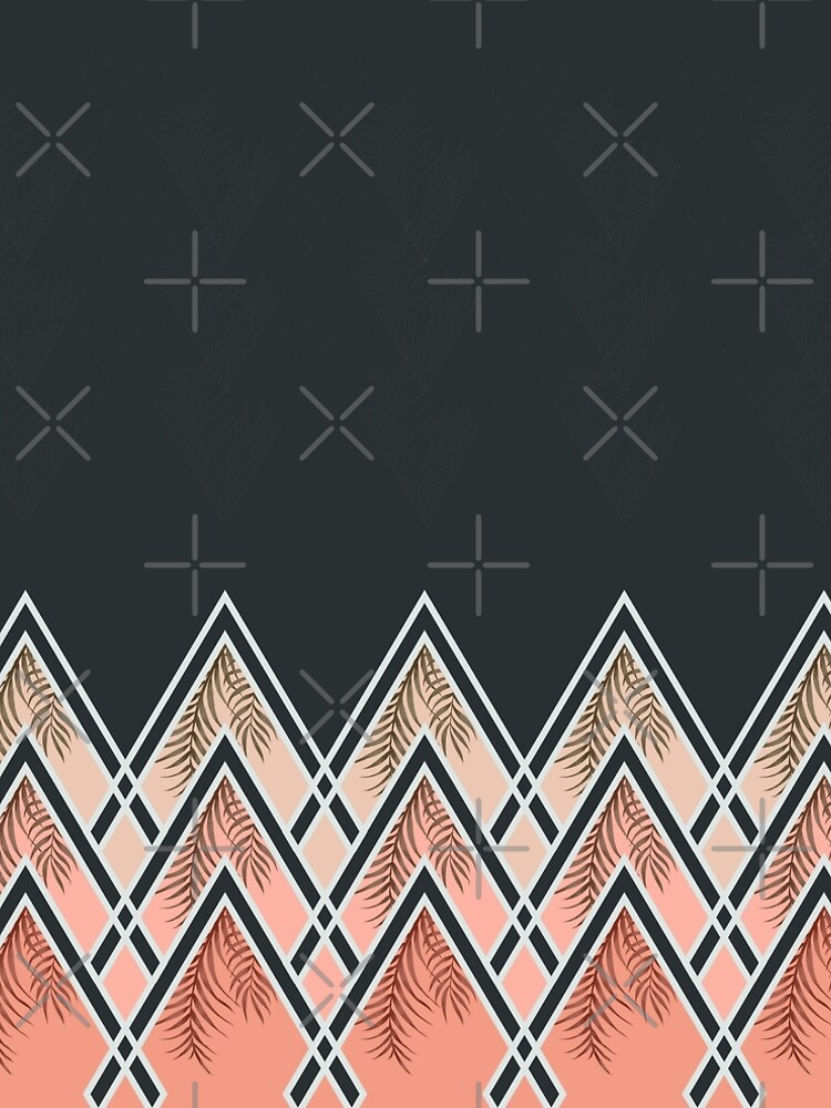 Pink Déco Mountains by designdn