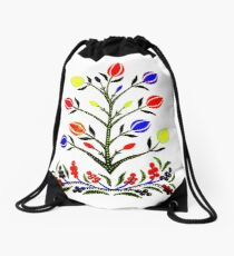 Slavic Flower 4 Drawstring Bag