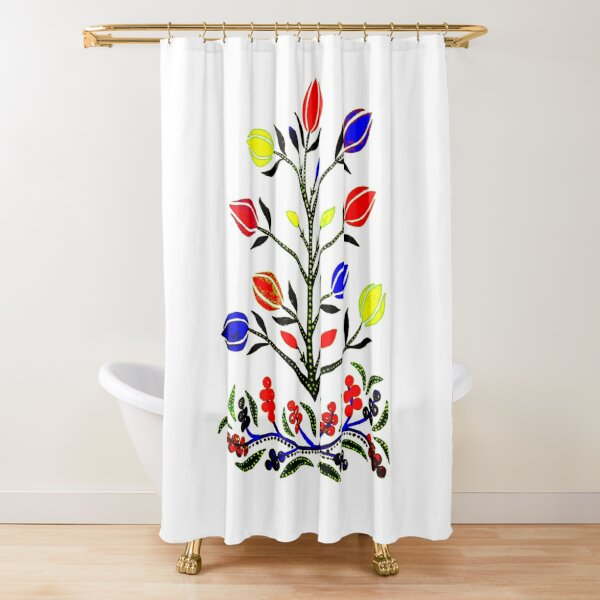 Slavic Flower 4 Shower Curtain