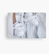 Baby Booties Canvas Print