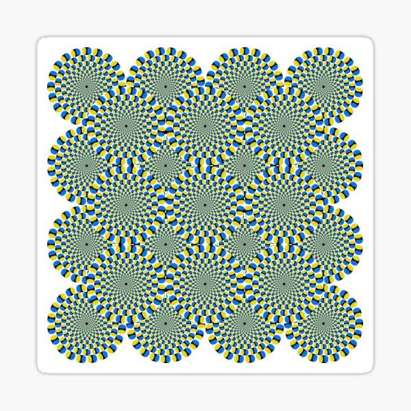 #Optical #Illusion #Pattern Abstract Decoration #Art Illustration Design Flower Sticker