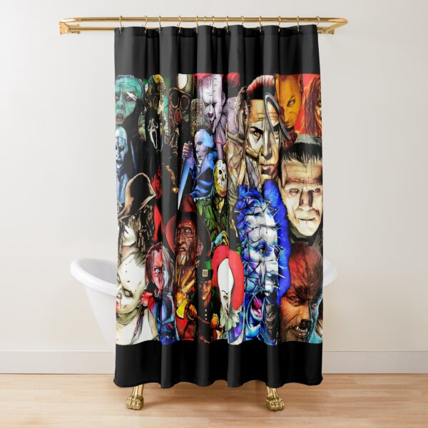 Collage Of Horror Shower Curtain