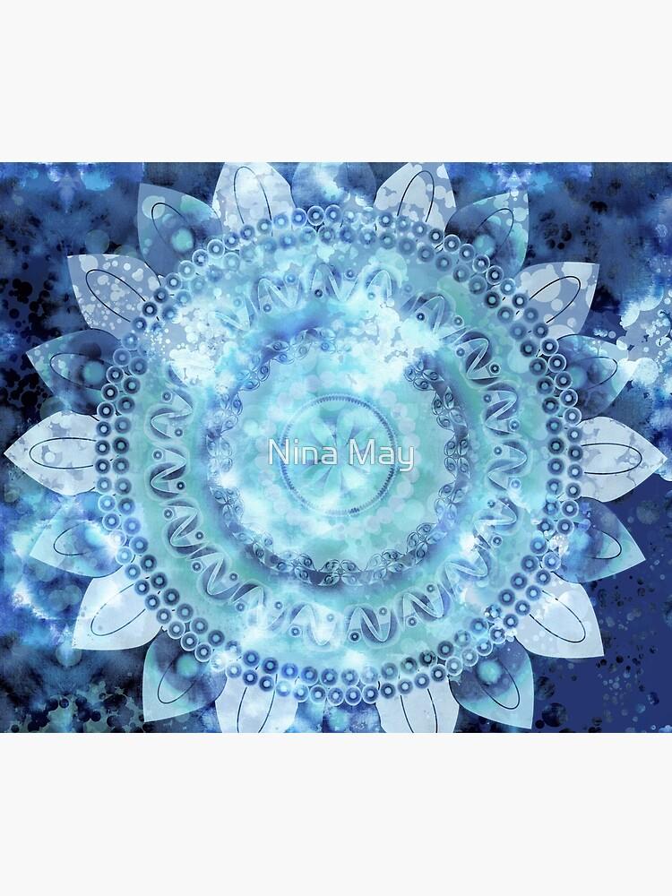Blue Minted Fizz Mandala by ninabmay