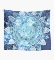 Blue Minted Fizz Mandala Wall Tapestry
