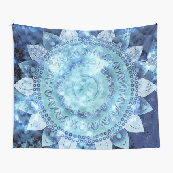 Blue Minted Fizz Mandala Tapestry