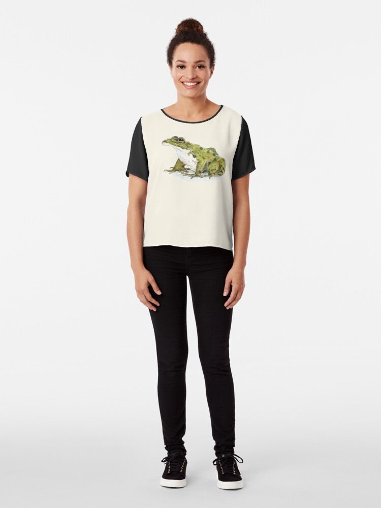 Alternate view of Frog Chiffon Top