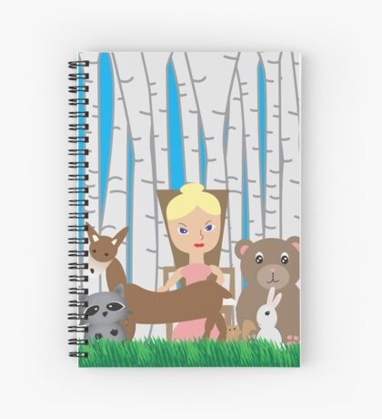 Mother Nature and Animal Friends Spiral Notebook