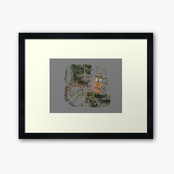 Welcome to planet Morty cartoon Framed Art Print