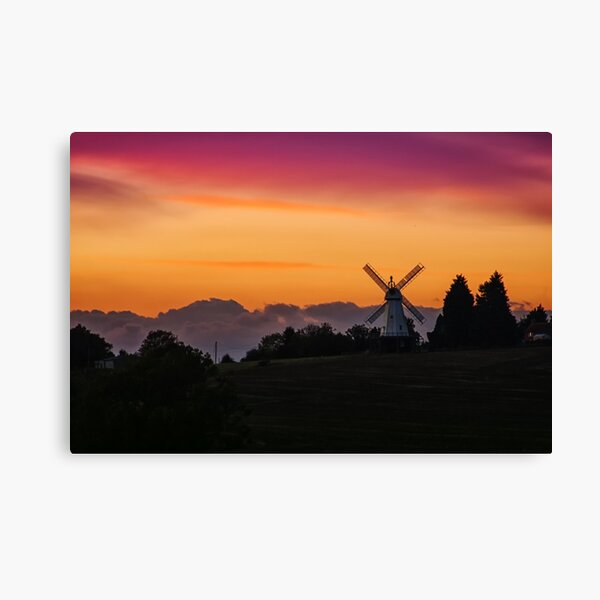 The Windmill After The Sun Has Set Canvas Print