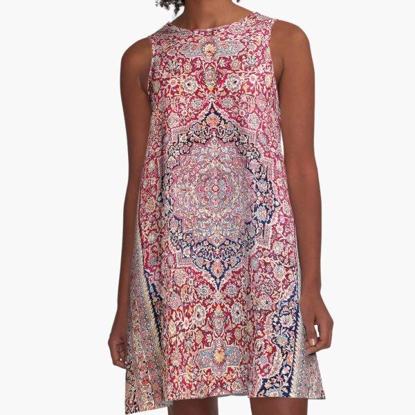 Tabriz West Central Persian Rug Print A-Line Dress