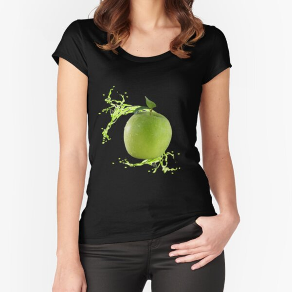 Apple Fitted Scoop T-Shirt