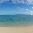 Rarotonga Beach Panorama by Adam Jones