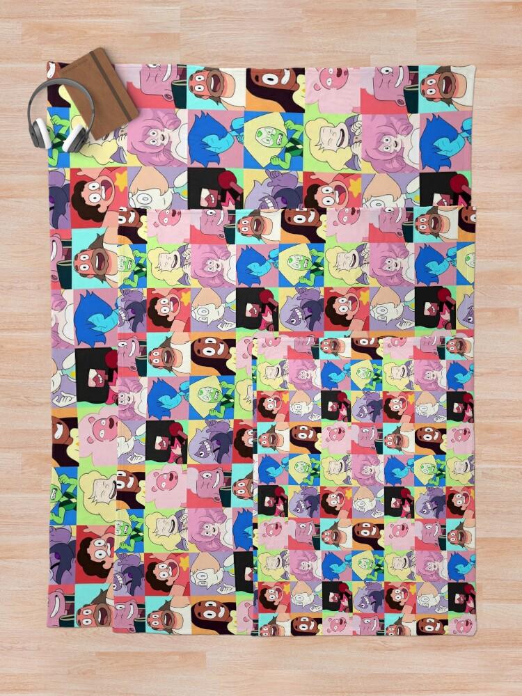 Alternate view of Steven Universe™ Character Set! Throw Blanket