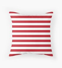 Red and White Stripes Floor Pillow