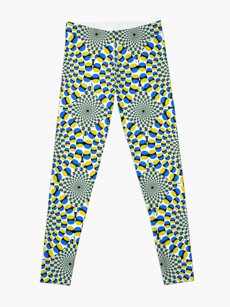 Alternate view of #Optical #Illusion Pattern Abstract Decoration Art Illustration Design Flower  Leggings