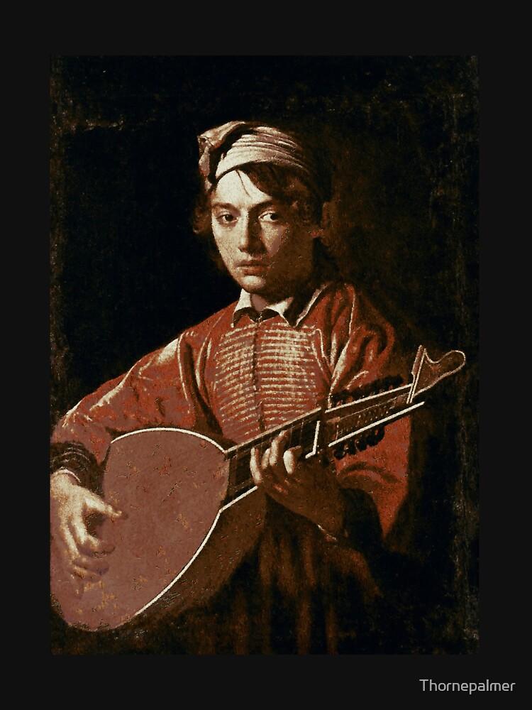Caravaggio - Lute Player by Thornepalmer