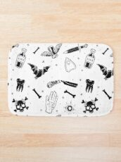 A Few of My Macabre Things (on white) Bath Mat