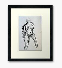 Bodies 1: Figure Sketch Framed Print
