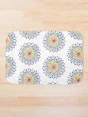 Circle Mosaic - Rainbow Bath Mat