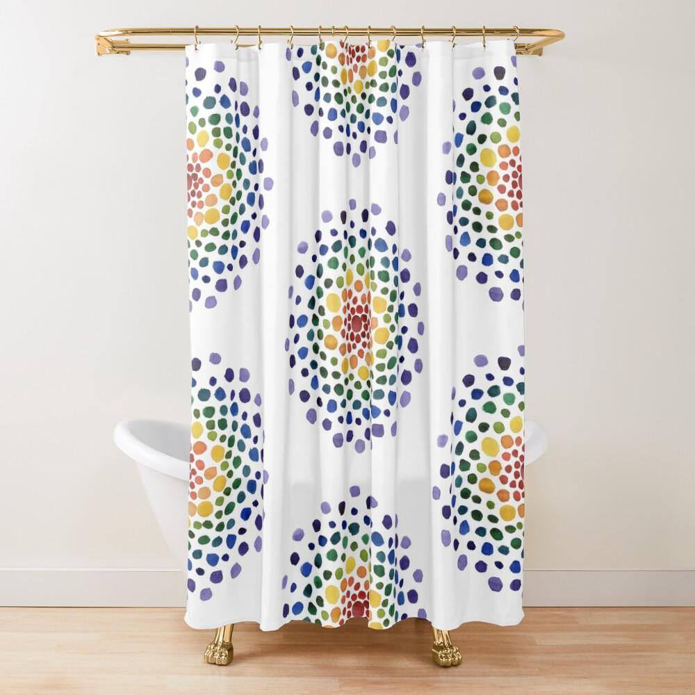 Circle Mosaic - Rainbow Shower Curtain