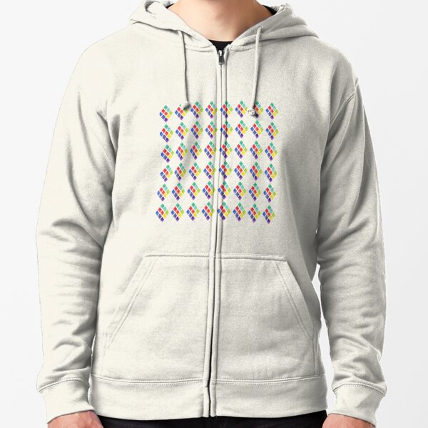 Painted Argyle Zipped Hoodie