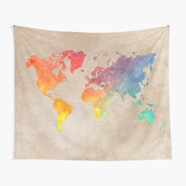 World Map maps Tapestry