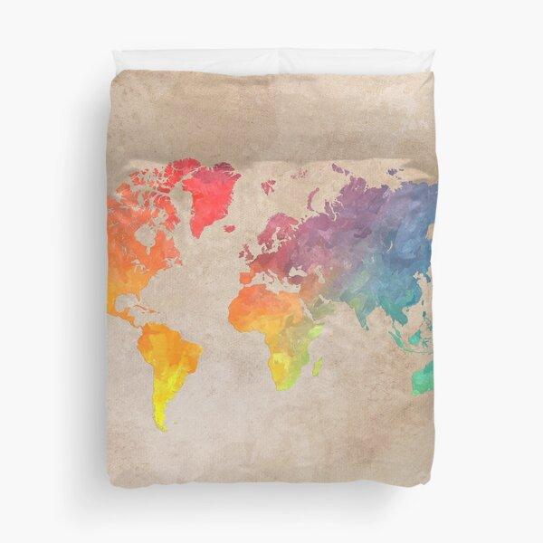 World Map maps Duvet Cover