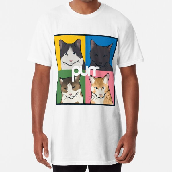 purr / blur Long T-Shirt