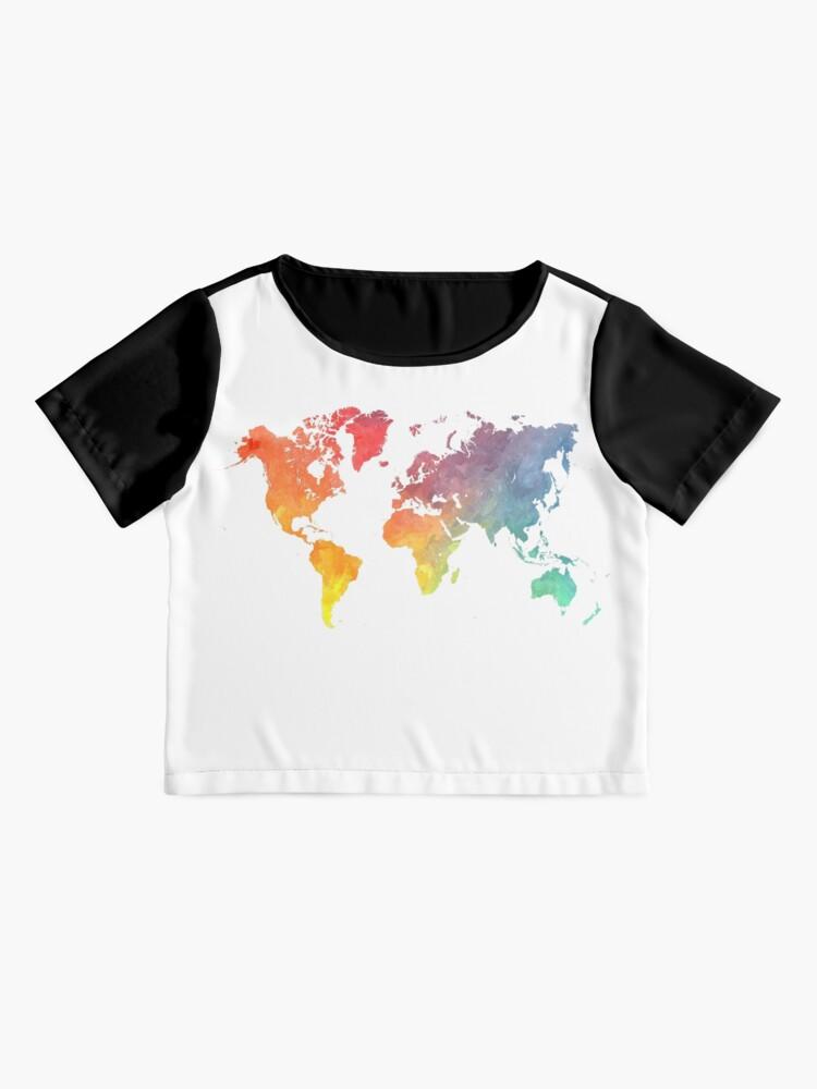 Alternative Ansicht von Karte der Welt gefärbt Chiffon Top