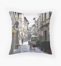 Old Streets of Florence, Italy Throw Pillow