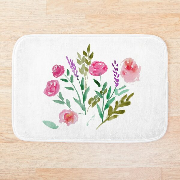 Country Bouquet Bath Mat