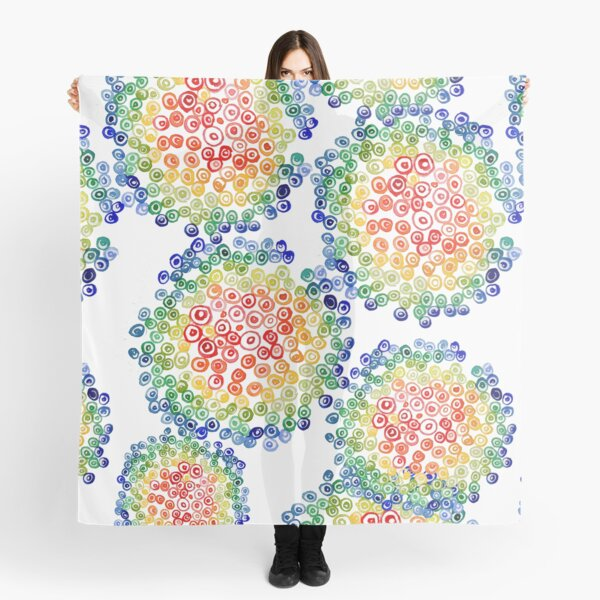 Color My Swirled Scarf
