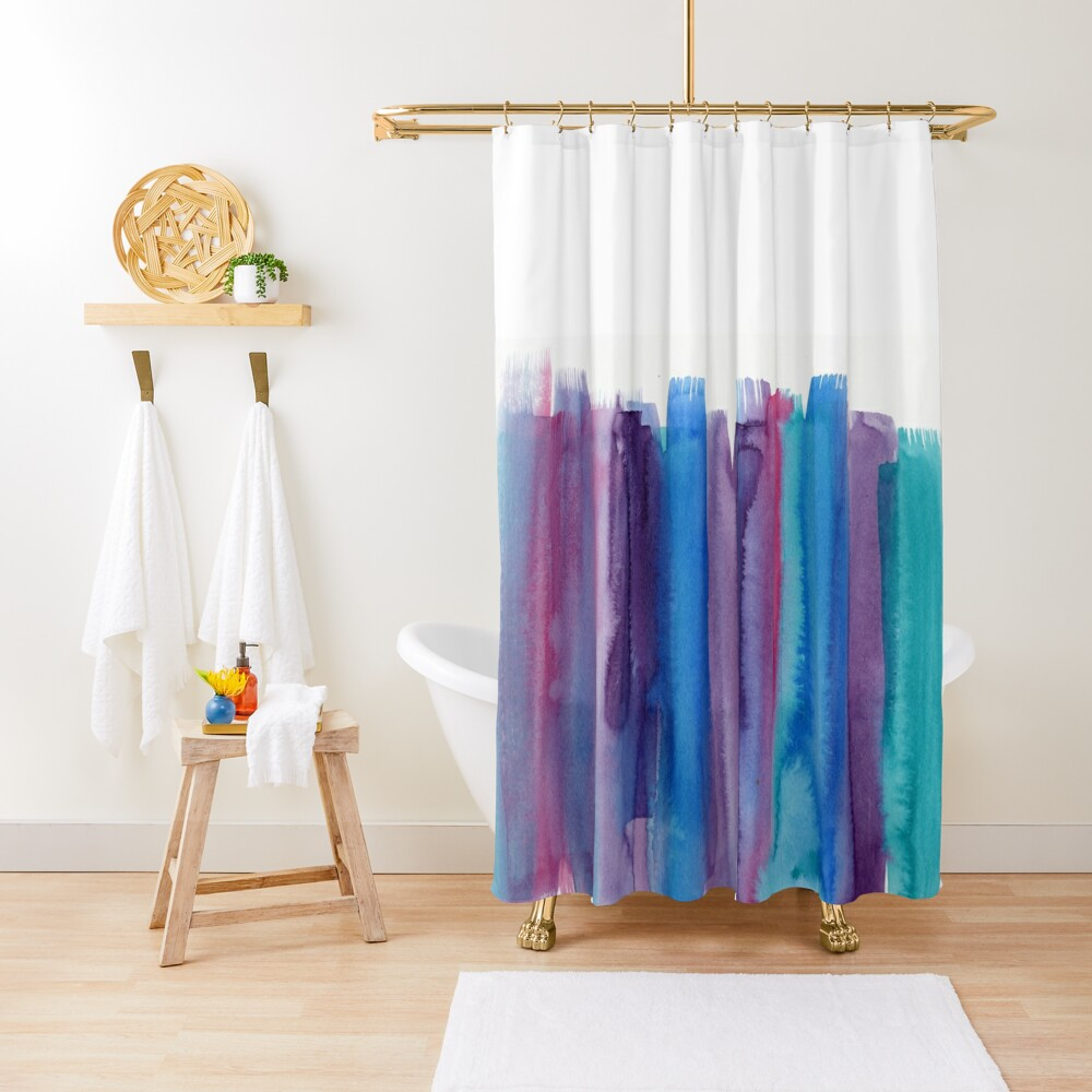 Brushed Watercolor Shower Curtain