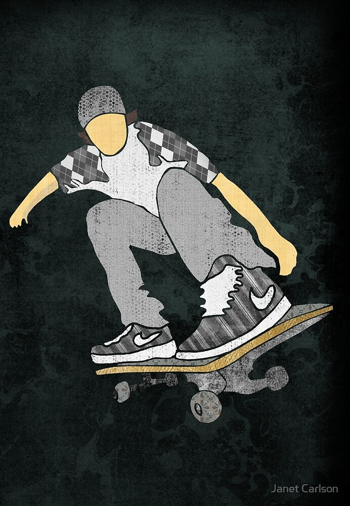 Skateboard 11 by Janet Carlson