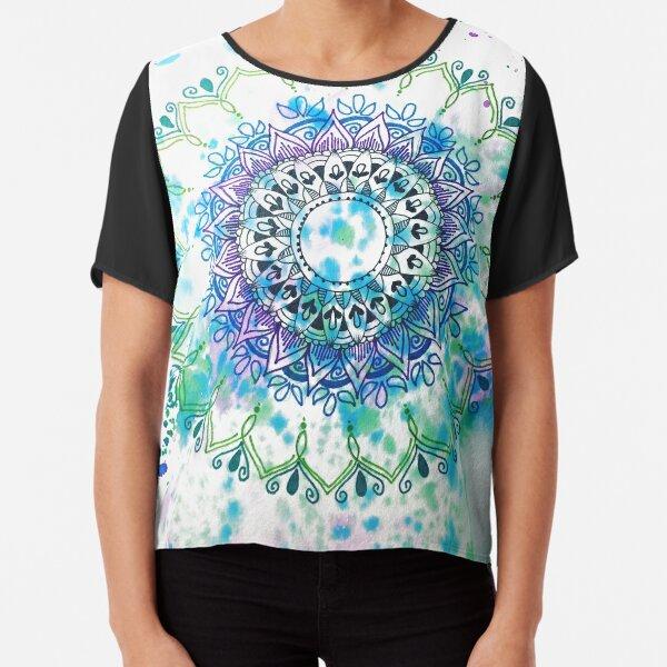 Mandala Splash Chiffon Top