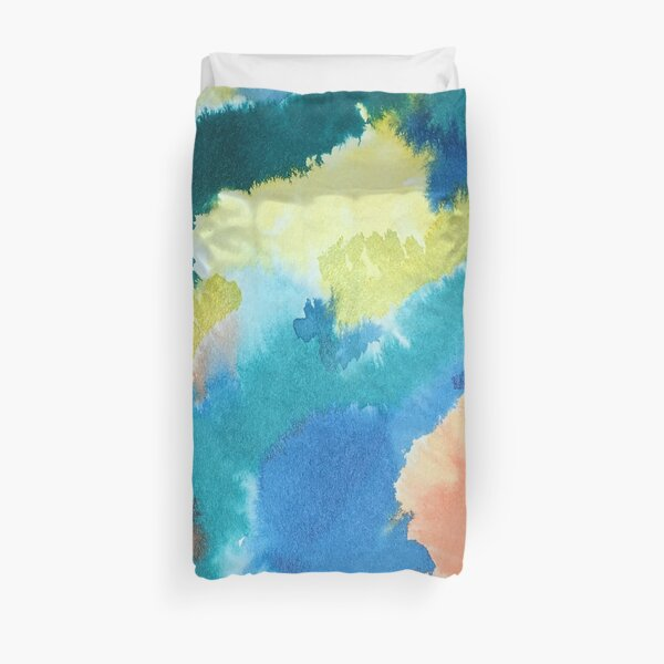 Untitled (Blue, Yellow, Orange and Green)  Duvet Cover
