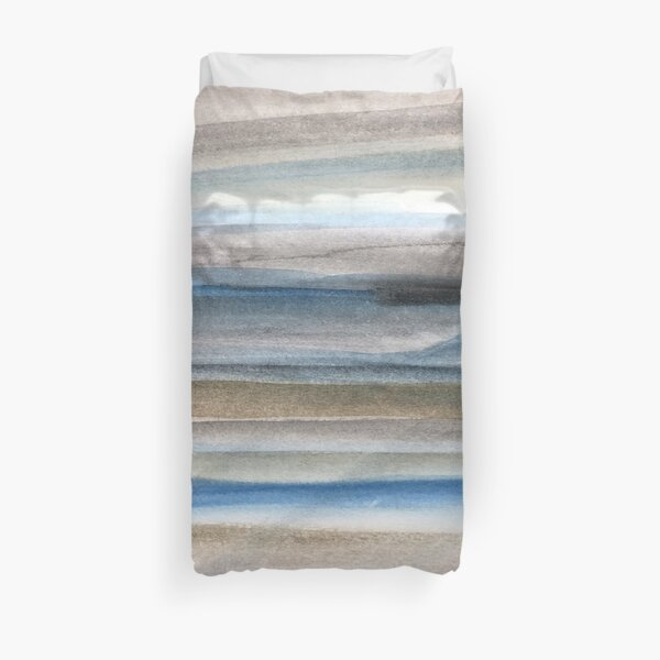 Brown and Blue Abstract Duvet Cover