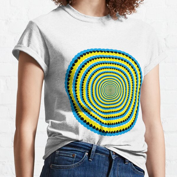 #MOVING #EYE #ILLUSION #Pattern, design, circular, abstract, illustration, art Classic T-Shirt