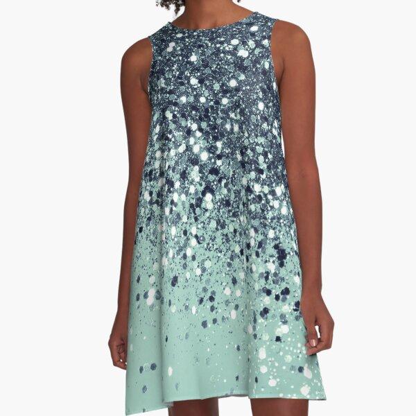 Cali Summer Vibes Lady Glitter #5 #shiny #decor #art A-Line Dress
