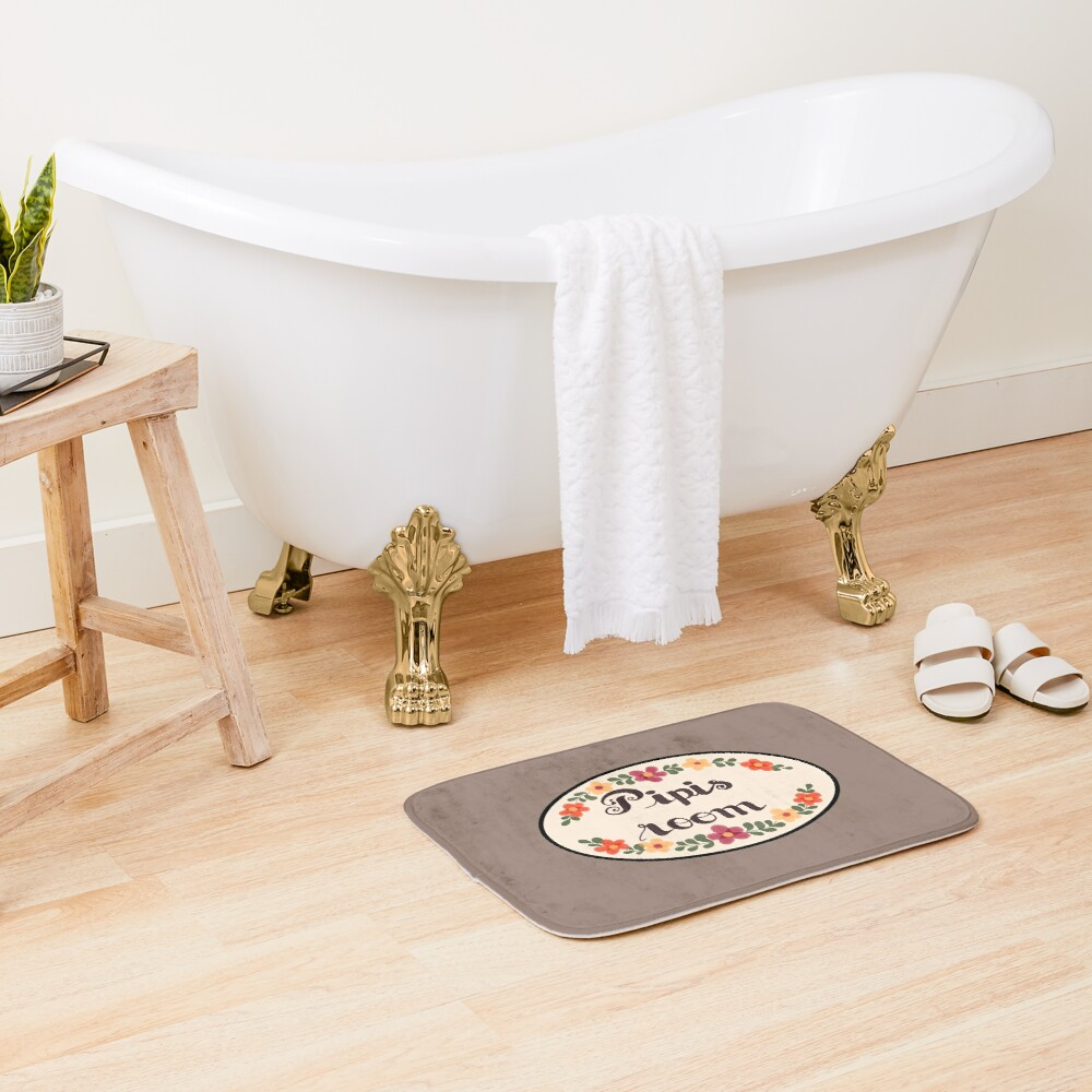 Pipis Room Design - Polygon Griffin McElroy Inspired Bath Mat