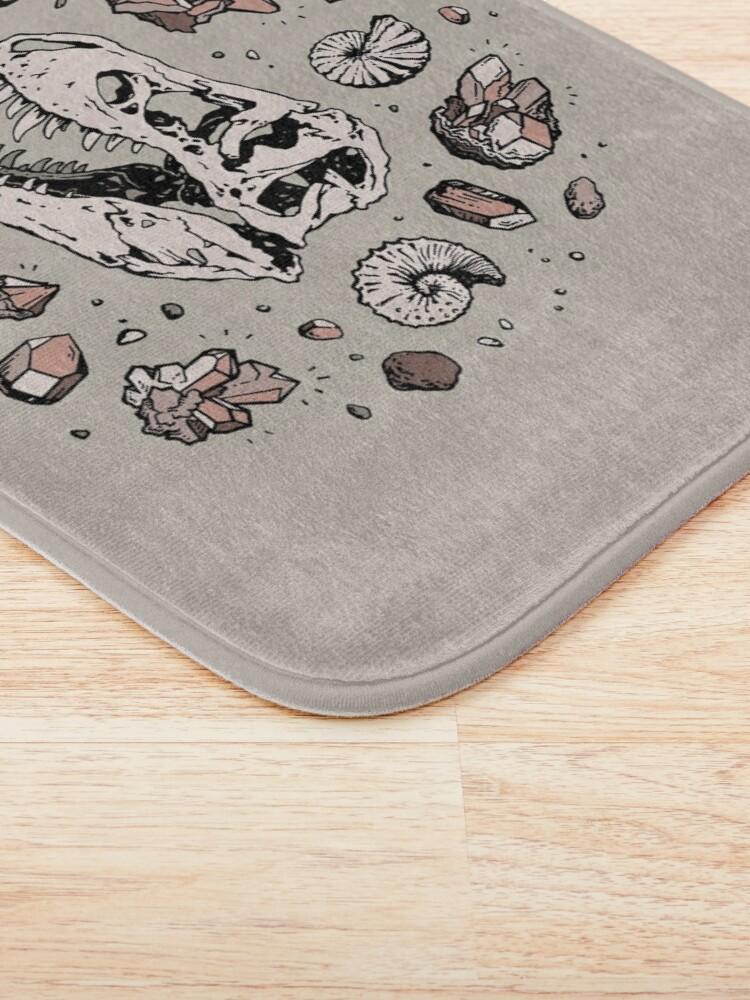 Alternate view of Geo-rex Vortex | Rose Quartz | Dinosaur Skull Fossil Art Bath Mat