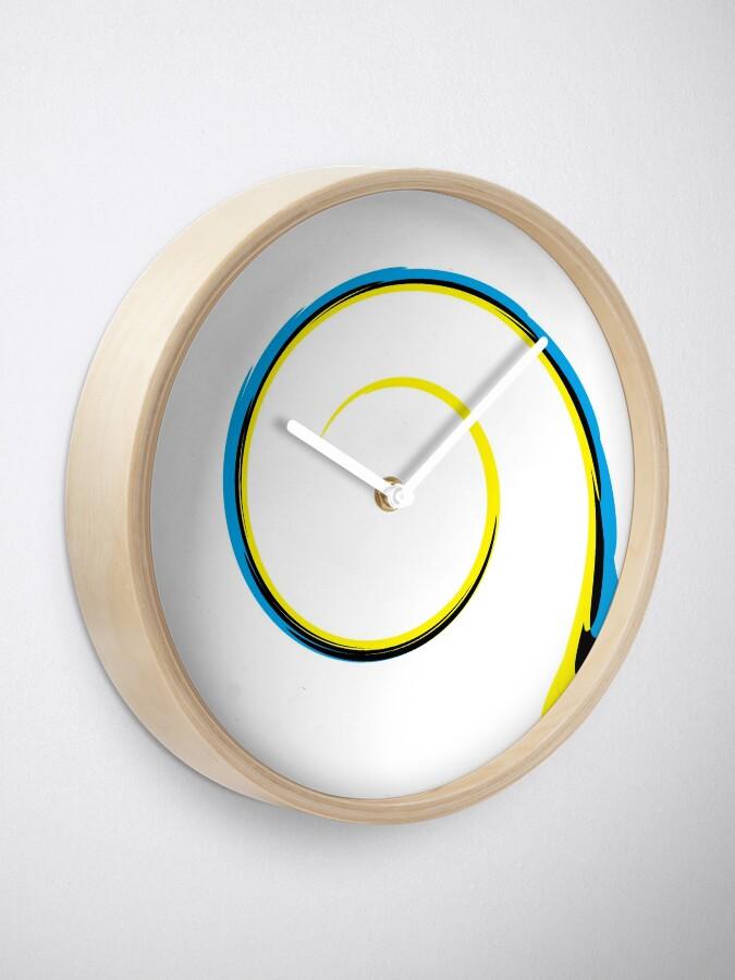 Alternate view of #MOVING #EYE #ILLUSION #Pattern, design, circular, abstract, illustration, art Clock