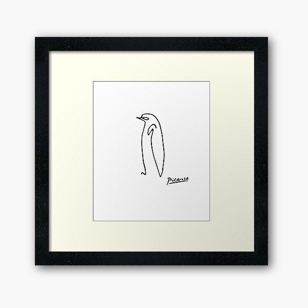 Pablo Picasso Penguin Artwork Shirt, Sketch Reproduction Framed Art Print