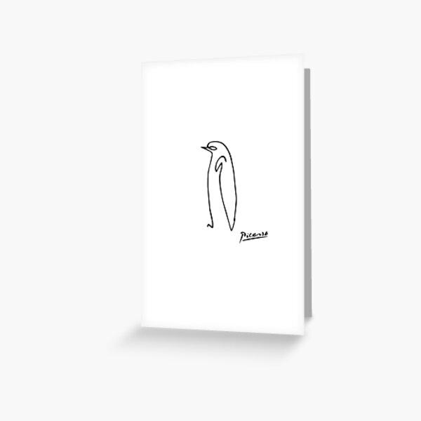 Pablo Picasso Penguin Artwork Shirt, Sketch Reproduction Greeting Card