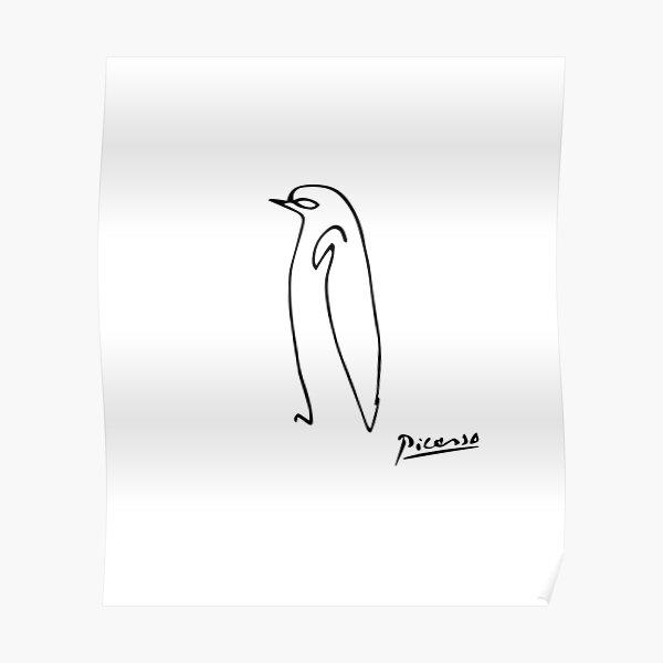 Pablo Picasso Penguin Artwork Shirt, Sketch Reproduction Poster
