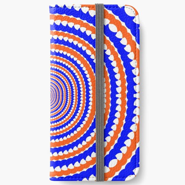 #MOVING #EYE #ILLUSION #Pattern, design, circular, abstract, illustration, art iPhone Wallet