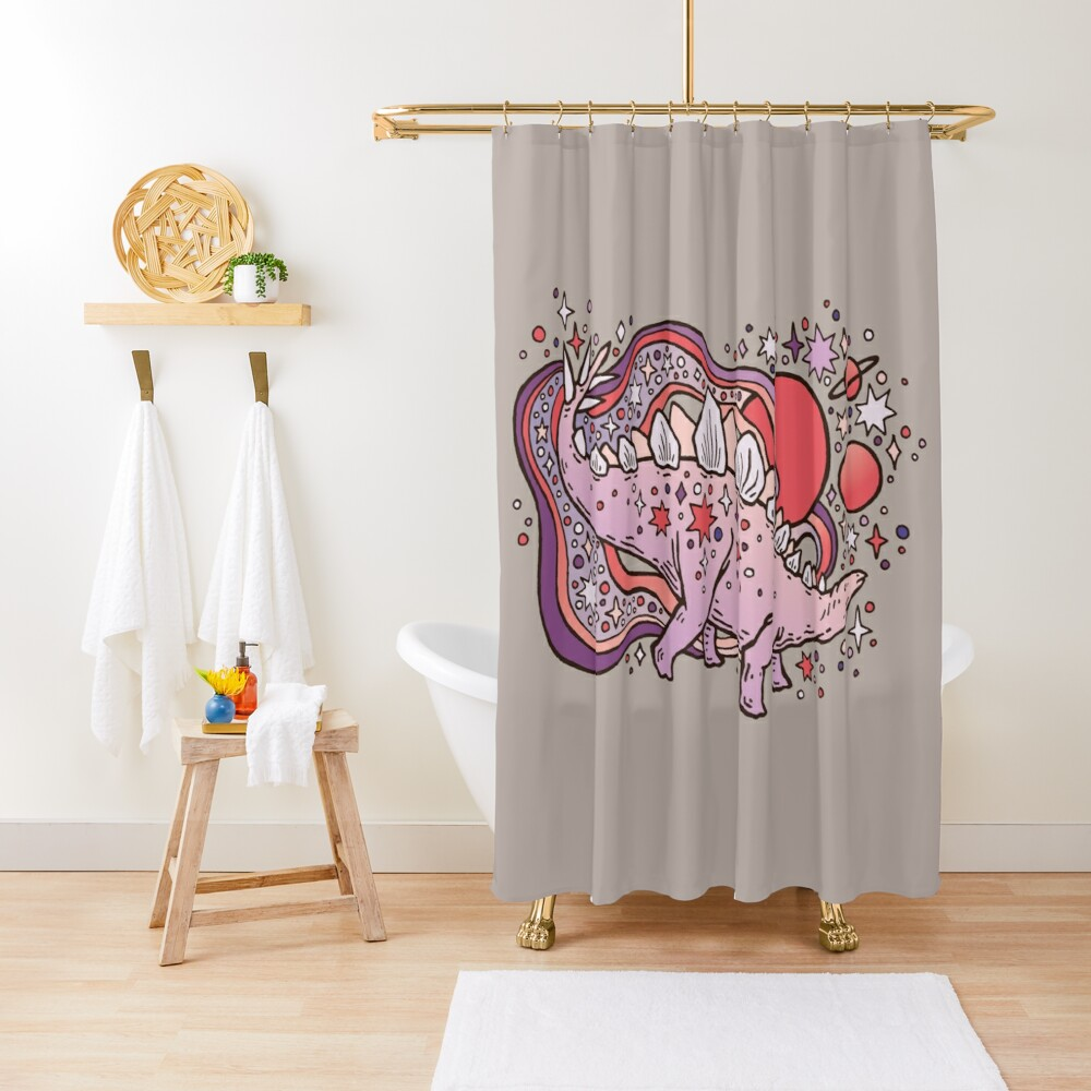 Star Stego | Space Sparkle Palette Shower Curtain