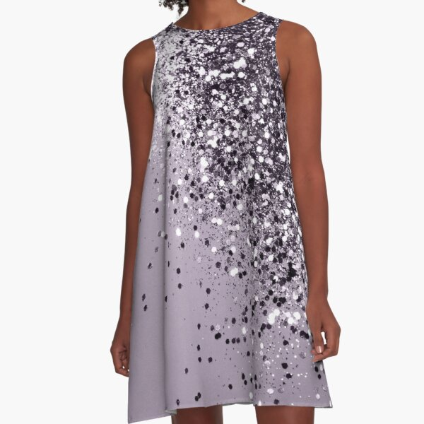 Sparkling Lavender Lady Glitter #1 #shiny #decor #art A-Line Dress