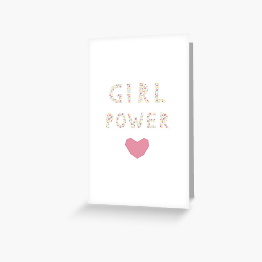 Feminism Quote Girl Power Cute Card With Woman Motivational Slogan Inscription For T Shirts Posters Cards Flower Background Greeting Card By Illucesco Redbubble